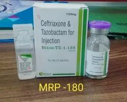 Bitoz TZ 1.125 Ceftrixione With Tazobactum Injection