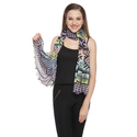 Poly Crinkeld Chiffon With Fringes Scarves