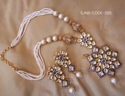 Traditional White Pearl Set For Women Fashion Jewellery Size 30