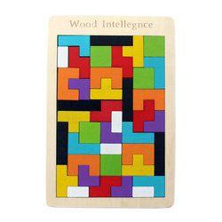 Wooden Tetris Jigsaw Puzzle 40 pcs - (1TNG121)