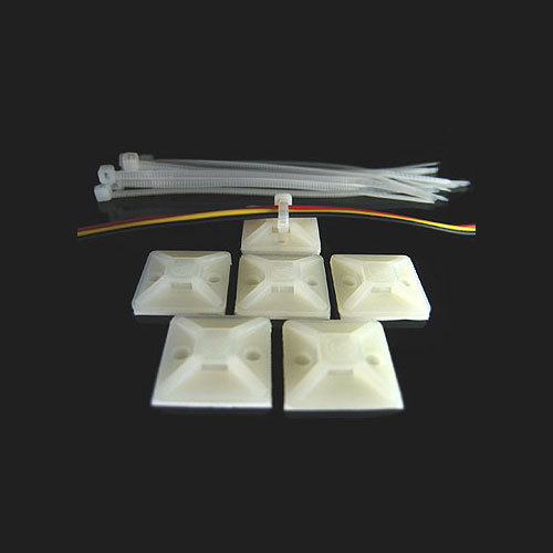 9de285901beb Natural/White Plastic Cable Tie Mounts, 1000, Rs 50 /packet | ID ...
