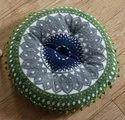 Cotton Suzani Embroidery Filled Cushion