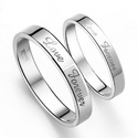 Zevrr 92.5 Sterling Silver Platinum Plated Designer Couple Rings For Male And Female