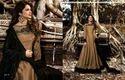 Brown Art Silk Anarkali Suit