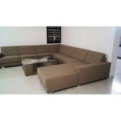 Brown Wood Modern Sofa Set