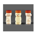 Off White Hdpe Bear Shape Tablet Container, Capacity: 85 Ml