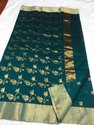 Handloom Chanderi Saree With Blouse, 5.5 Mtr