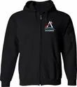Mens Soft Fleece Cotton Hooded Corporate Zipper Sweatshirt