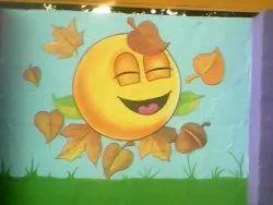 Preschool Wall Painting Indoor And Outdoor (K-12 school/Playschool)