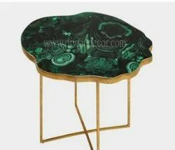Malachite Agate Side Table