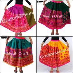 ac49c9d704 Long Medium Designer Kutch Handmade Banjara Gypsy Mirror Work Skirt