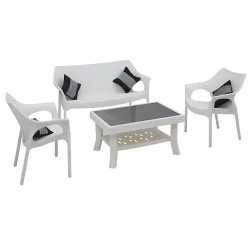 Plastic Supreme Love Seat With Vegas And Cambridge White Sofa Set Rs 11500 Set Id 19265285791