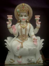 Multicolor Jaipurcrafts Marble Lakshmi Statue