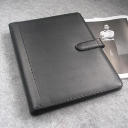 Black Leather Business File Covers, For Office