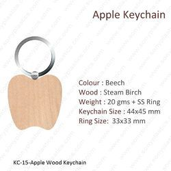 Wooden Keychain-KC-13-Heart-Dil- Keychain