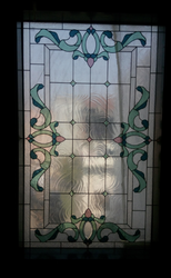 Printed Classical Premium Stained Glass, Thickness: 20 Mm
