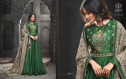 Embroidered Regular Havey Tikona Silk Satin With Embroidery Work Salwar Suit
