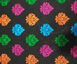 Mulit Colors Embroidered Motif Fabric