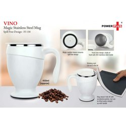 H158 - Vino Magic Stainless Steel Mug Spill Free Design (450 Ml Approx)