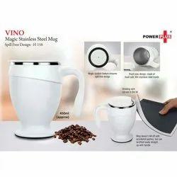 H158 - Vino Magic Stainless Steel Mug Spill Free Design (450 Ml Approx)