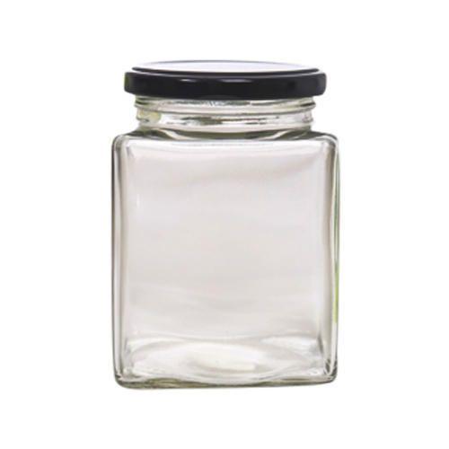 280 Ml Square Glass Jar