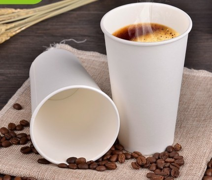 Hot Amp Cold Coffee Paper Cup 12 Oz Plain Packet Size 100