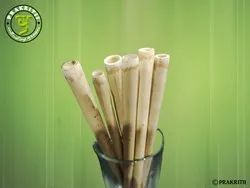 Wooden Prakritii Bamboo Straws, 100, Size: 200mm Long