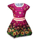 Girls Printed Cotton Frock