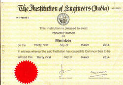 Chartered Engineer in India