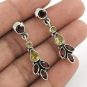 Inlay Silver Jewelry Stud Earrings