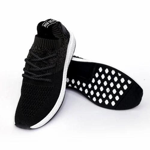 Hush Berry Tech Mens Knit Pattern Sports Running Shoes Mib Black