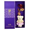 Rangoli Red & Gold Rose With Teddy
