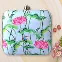Flower Printed box Clutch