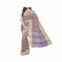 Casual Wear South Indian Cotton Silk Sarees, 6 M