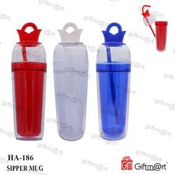 Red Plastic Sipper Mug, for Office