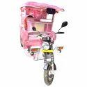 Pink Passenger Electric Rickshaw