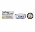 Grey Steel Badges