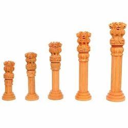 Wood Wooden Ashoka Pillar
