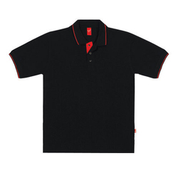 Mens Black Polo T Shirt