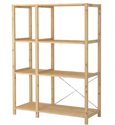Wooden Slotted Angle Rack Storage Shelves