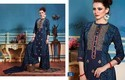 Designer Cotton Embroidered Semi-stitched Long Suit