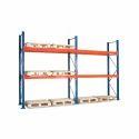 10-12 Feet Angle Rack Industrial Iron Slotted Angle Racks, For Warehouse