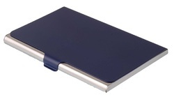 Steel Blue Card Holder