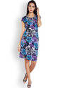 Printed Park Avenue Woman Purple Regular Fit Dress