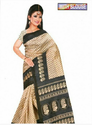 Multicolor Bhagalpuri Silk Sari With A Good Quality Lace