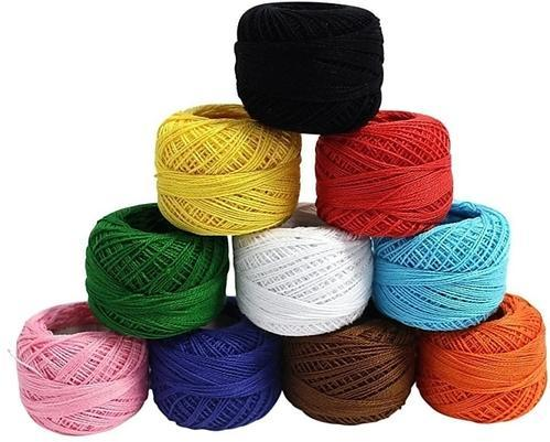 Twisted multi ply Cotton Yarn, For Embroidery