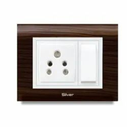 Rose Wood Modular Switch Board