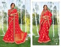 Stylish Ethnic Party Red Sarees