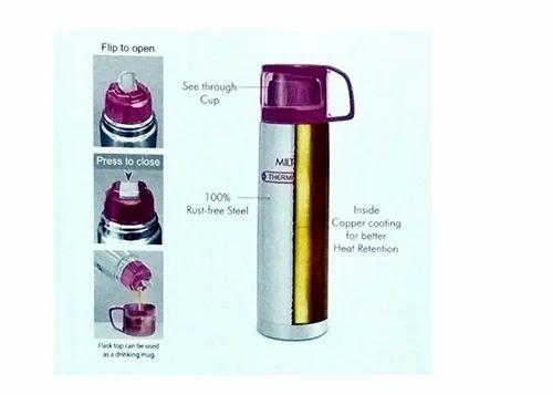 Milton Thermosteel Glassy Flip Lid Flask Bottle