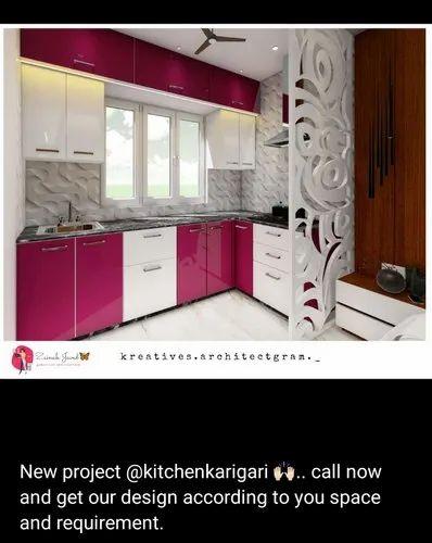 Kitchen Karigari Wooden Interior Designers, For Home, Work Provided: Wood Work & Furniture